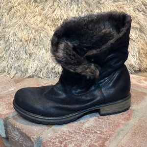 Candie's Fold Over Faux Fur Ankle Boots